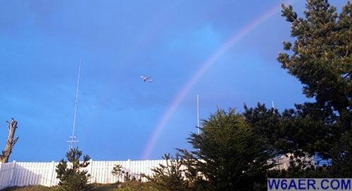 W6AER QTH HF9V rainbow