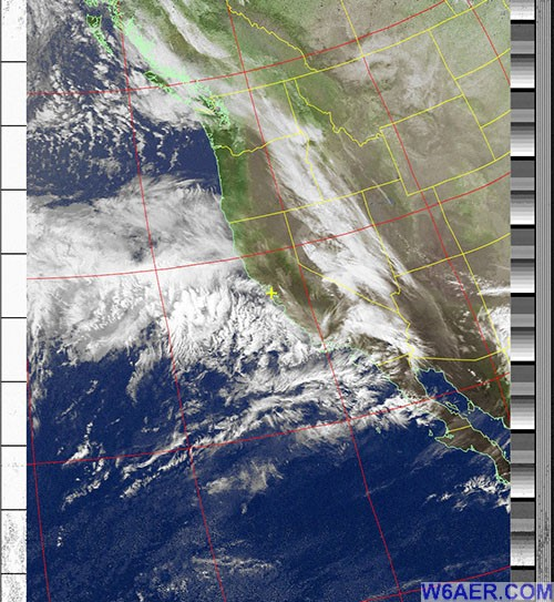 NOAA Satellite Image Reveived by w6aer