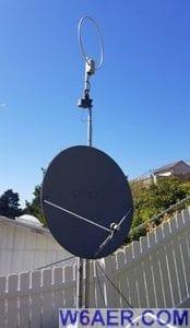 W6AER Antenna Farm AOR Loop FTA Dish
